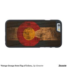 Vintage Grunge State Flag of Colorado