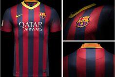 Camisa titular do Barcelona 2013-2014 - Novas camisas dos times europeus