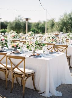 Aren't al fresco receptions beautiful? Click to see more! | Photography : Patrick Moyer Photography Read More on SMP: http://www.stylemepretty.com/2013/10/10/elegant-sunstone-villa-wedding-from-patrick-moyer-photography/