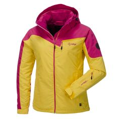 Kilpi, Keira Ski Jacket, Women, Pink-yellow Sharply priced complete Kilpi ski jacket This cool ski jacket of Kilpi contains many features to make you enjoy a great day on the slopes!