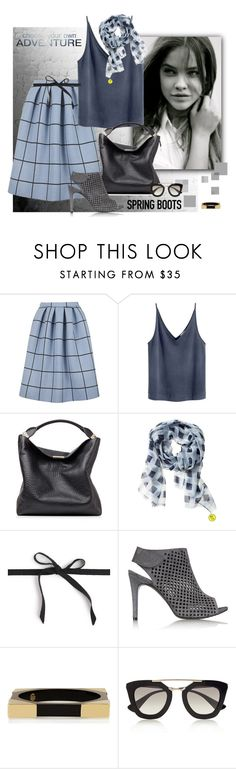 """""""Kick It: Spring Boots"""" by ysmn-pan ❤ liked on Polyvore featuring Topshop, Burberry, Banana Republic, J.Crew, Pedro García, Tory Burch, Prada, contest and springboots"""