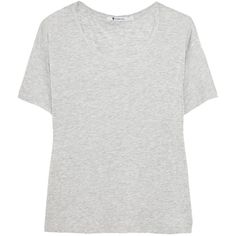T by Alexander Wang Oversized jersey T-shirt (3,205 PHP) ❤ liked on Polyvore featuring tops, t-shirts, light gray, oversized tops, loose fit t shirts, jersey tee, oversized t shirt and loose tops