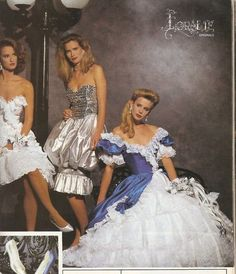 1980s prom dresses...I was in elementary school in the 80s but I would read the teen magazines and circle the dresses I wanted for when I went to prom. Of course when I went it was 1996, and I wore combat boots under my dress