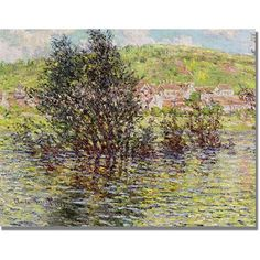 Trademark Fine Art Vetheuil, View From Lavacourt Canvas Art by Claude Monet, Size: 18 x 24, Multicolor