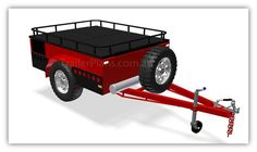 Off-Road Trailer PLANS - with Cargo Rack. Build your own Camper Trailer  www.trailerplans.com.au
