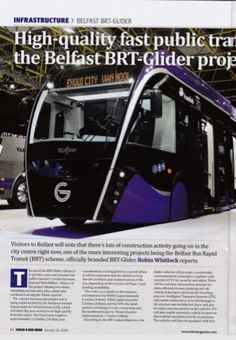 My article for Coach & Bus Week on the Belfast BRT-Glider project, 23rd January 2018