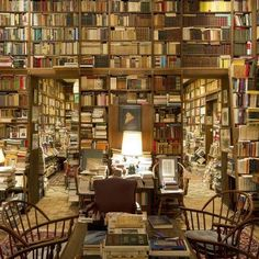 A huge room just filled with books , perfection! #bookshelfporn #library
