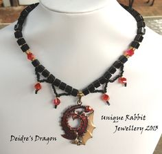 Deidre's Dragon  Another custom made necklace for a customer.