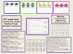 CVC Sound Mats Blending Segmenting Dinosaur Theme demonstrate correct blending skills Blending (combining sounds) Segmenting (separating sounds) stretch the sounds Reading Groups phonemic awareness Give each student a set of the cut out alphabet letters. Say the sound of each letter the students will need, one at a time (teacher created word list CVC).