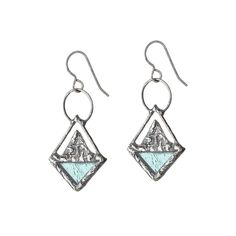 STAINED GLASS TRIANGLE EARRINGS | Unique earrings, jewelry | UncommonGoods