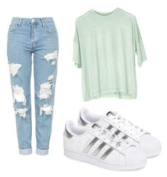 """Untitled #51"" by kayleemaelong on Polyvore featuring Topshop and adidas"