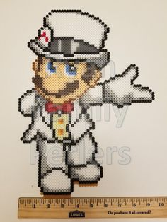 Super Mario Odyssey Mario Perler by jrfromdallas