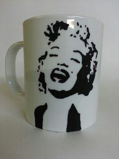 #stencil #mug #ceramic