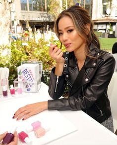 NAILED IT   On Saturday in Los Angeles, Jamie Chung gets pampered with a manicure at an Essie event at The Grove.  Star Tracks: Monday, Feb. 6, 2017