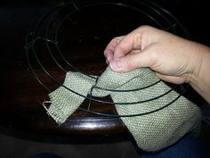 How to Make a Burlap Wreath: 10 Steps *I would use smaller width burlap so I don't have to make cuts*