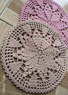 Crochet Motif Patterns, Crochet Lace Edging, Granny Square Crochet Pattern, Crochet Mandala, Crochet Squares, Filet Crochet, Crochet Designs, Crochet Flowers, Crochet Dollies