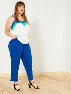 9018e66e08f0 Pantaloni dritti taglie forti a prezzi scontati da donna - moda Taglie  forti donna