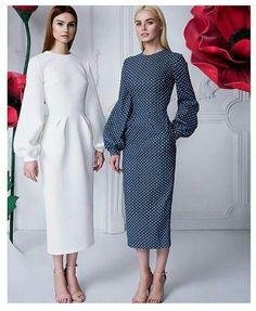"Dress peas - 26 990 rubles, Dress ""Lily"" w . Fashion Mode, Modest Fashion, Look Fashion, Hijab Fashion, Fashion Dresses, Womens Fashion, Fashion Design, Fashion Details, Fashion Ideas"