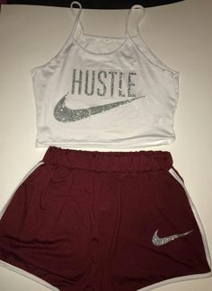 Gym Attire where can you get this? Cute Nike Outfits, Cute Lazy Outfits, Chill Outfits, Teenage Outfits, Teen Fashion Outfits, Sporty Outfits, Outfits For Teens, Trendy Outfits, Nike Trainer