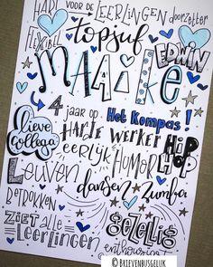 • M A A I K E • ©️ 💙⭐️💙 Ook juf Maaike nam dit jaar afscheid van Het Kompas. Een harde werker met hart voor haar leerlingen.. Na vier jaar… Classroom Crafts, Photo Book, Bujo, Doodles, Bullet Journal, Calligraphy, Gift Ideas, Drawing, Cards