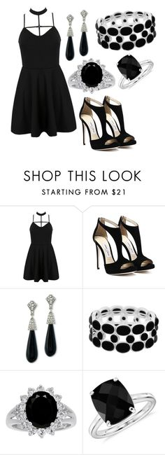 """Untitled #106"" by kayleemcoleman-1 ❤ liked on Polyvore featuring WithChic, Kenneth Jay Lane, Liz Claiborne and Blue Nile"