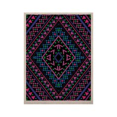 """Nika Martinez """"Neon Pattern"""" KESS Naturals Canvas (Frame not Included)"""