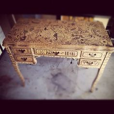 tattooed desk