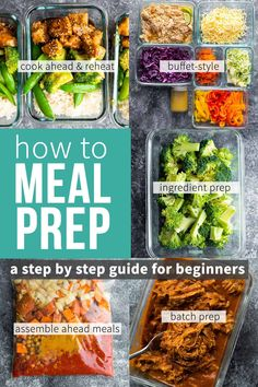 This post shows you how to meal prep for the week with step by step photos. Tips, recipes and strategies to help you find a system that works for you! #sweetpeasandsaffron #mealprep #howto Make Ahead Meals, One Pot Meals, Easy Meals, Lunch Meal Prep, Meal Prep Bowls, Saffron Recipes, Slow Cooker Freezer Meals, Styling A Buffet, Meal Prep For The Week
