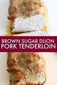Brown Sugar Dijon Pork Tenderloin - A simple and memorable recipe for Brown Sugar Dijon Pork Tenderloin. Just two simple ingredients to create a meal your family will rave about! Just two simple ingredients to create a meal your family will rave about! Ceviche, Nachos, Enchiladas, Wok, Guacamole, Mustard Pork Tenderloin, Pork Loin, Pork Tenderloins, Beef Tenderloin