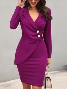 f41b908ce949 Shop Scrunch Button Design Blazer Bodycon Dress – Discover sexy women  fashion at Boutiquefeel. whoisfashion