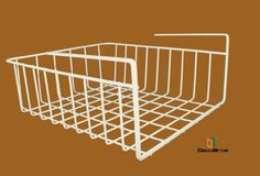 """Under Shelf Basket Wrap Rack, White by DecoBros® by Deco Brothers. $7.99. Made from heavy gauge steel. Durable epoxy coating. 12.1"""" TOP, 11.5"""" BOTTOM of width x 5.19"""" height x 12.53"""" deep. The under shelf baskets help to increase your storage space. There's no additional installation procedure, you just put under shelf. It is made by sturdy steel with white coating. Beautiful and durable.. Save 47%!"""