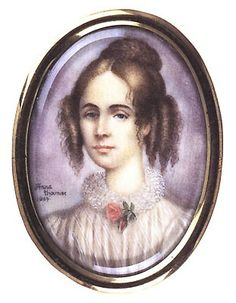 Portrait of Konstancja Gladkowska ( 1810-1889), Polish singer, youthful infatuation of Fryderyk Chopin, by Anna Chamiec