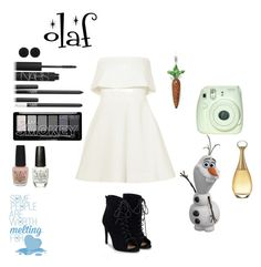 """olaf"" by crystalgems125 ❤ liked on Polyvore featuring Elizabeth and James, Thomas Sabo, NARS Cosmetics, OPI, sweet deluxe, Disney, JustFab and Christian Dior"