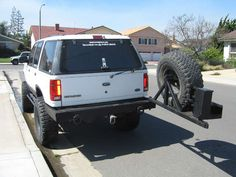 Bumper and swing away carrier Lifted Ford Explorer, Ford Trucks, Hot Wheels, Offroad, Toyota, Vehicles, Memories, Cars, Metal