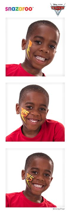 Snazaroo team up with Disney - follow our three-step Lightning McQueen face paint guide!