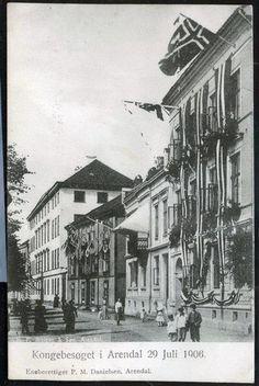Kongebesøket i Arendal 29. juli 1906. Foto eneberettiget: P.M. Danielsen, Arendal Painting, Art, Art Background, Painting Art, Kunst, Paintings, Performing Arts, Painted Canvas, Drawings