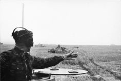 "fuhrerbefiehl: "" View from a command Panther tank as Waffen-SS troops advance during Operation Citadel, July 1943 """