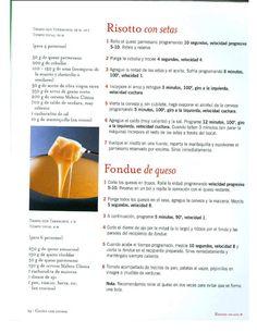 Risotto de setas y fondue de queso