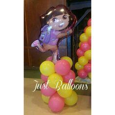 A'narii 4th Birthday Party! Dora Balloons Decoration #DoratheExplorer #BalloonsDecoration #JustBalloons