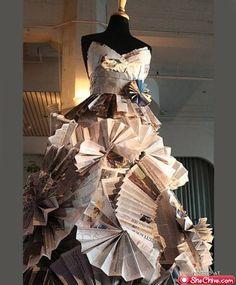 paper dresses | newspaper dresses5 Awesome newspaper dresses (26 photos)