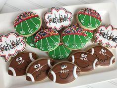 By The Bluebonnet Bakeshop Superbowl Cookies