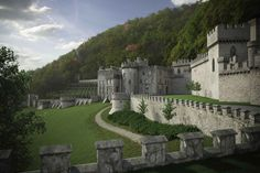 Gwrych Castle, Abergele. North Wales  Wales has more castles per square mile than any country in the entire world. It reflects the force used by the English in subduing and entire culture and nation exemplifying efforts of control and submission between the two.