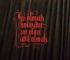 Ömer Faruk DERE Writing Art, Typography, Lettering, Victor Hugo, Stencil, Notes, Neon Signs, Calligraphy, How To Plan