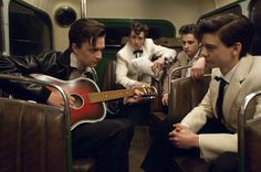 Nowhere Boy - Publicity still of Aaron Taylor-Johnson, Thomas Brodie-Sangster, Sam Bell & Frazer Bird. Film Aesthetic, Character Aesthetic, Liverpool, Nowhere Boy, Adventure Time Characters, Movies For Boys, Maze Runner Cast, Aaron Taylor Johnson, Skater Boys