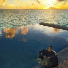 Champagne  sunsets  and the Maldives  3 of my favorite things.  by @kristo... | http://ift.tt/2b7Z089 shares #travel #destination for #rich #vacation and #holiday. #Get #hotels #Deals at http://ift.tt/2b7Z089