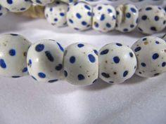 Antique African Trade glass Bead Blue eyes Venetian