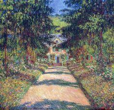 The Main Path at Giverny, Claude Monet 1900