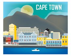 Cape Town wall art is available in an array of finishes, materials, and sizes, this retro inspired wall art will make Cape Town feel close to your heart with its bright color palette and unique design