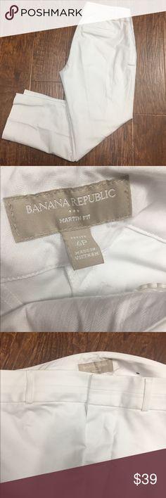 Banana Republic NWOT white Martin fit pants Brand-new without tags banana republic skinny pants martin fit size 6 petite. Banana Republic Pants Straight Leg