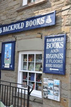Backfold Books, Oxford Road, Hay-on-Wye, UK. A bookshop that also sells vintage postcards and collectables. Books To Buy, Antique Shops, Vintage Postcards, Wales, Oxford, Bucket, Antiques, Vintage Travel Postcards, Antiquities